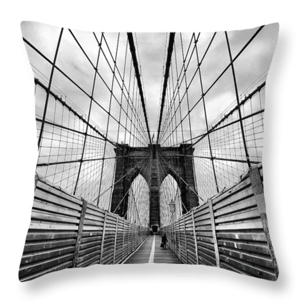 Passing The Future On Your Way There Throw Pillow by John Farnan