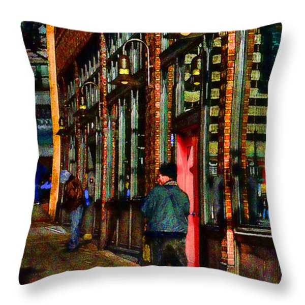 Passing Time Throw Pillow by David Patterson