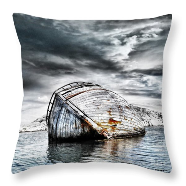 Past Glory Throw Pillow by Photodream Art