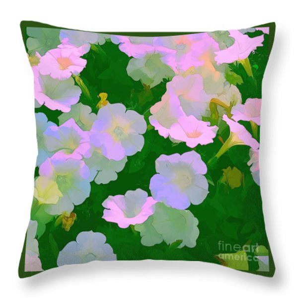 Pastel flowers Throw Pillow by Tom Prendergast