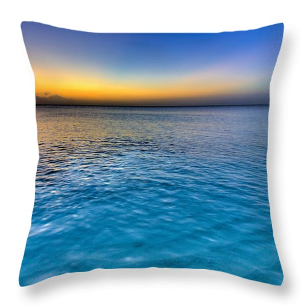 Pastel Ocean Throw Pillow by Chad Dutson