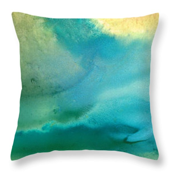 Pathway To Zen Throw Pillow by Sharon Cummings
