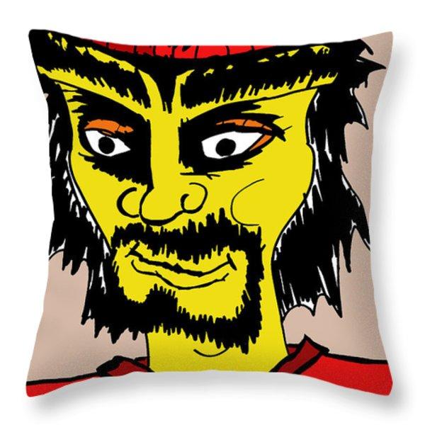 Patrick The Bum Throw Pillow by Jera Sky