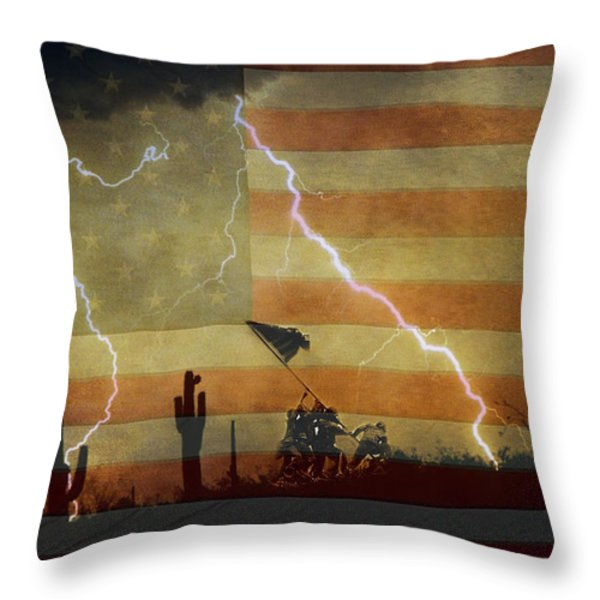 Patriotic Operation Desert Storm Throw Pillow by James BO  Insogna