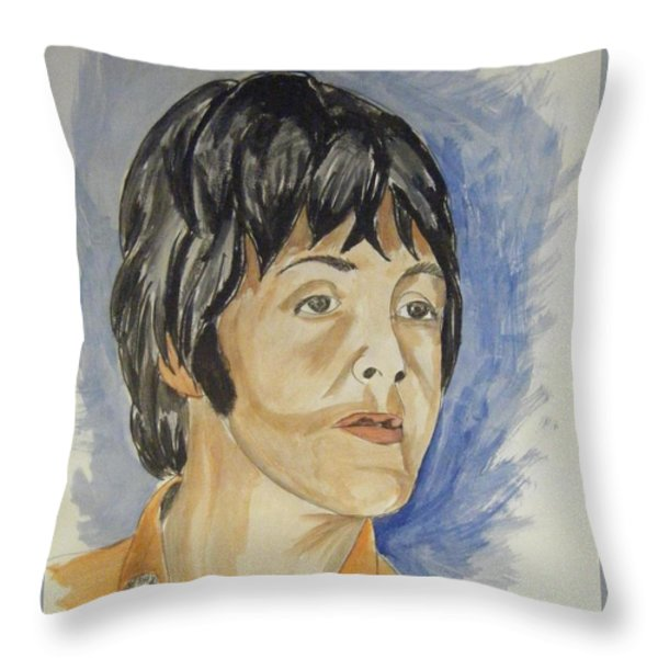 Paul Throw Pillow by Joseph Papale