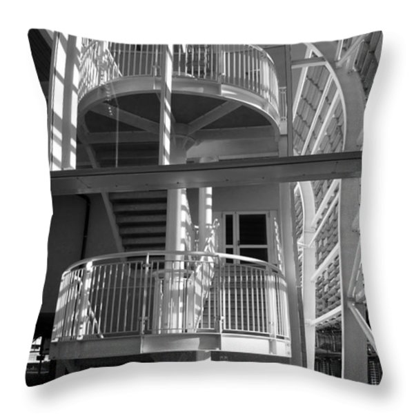 Pavilion Stairs At The Ageas Rose Bowl Throw Pillow by Terri Waters