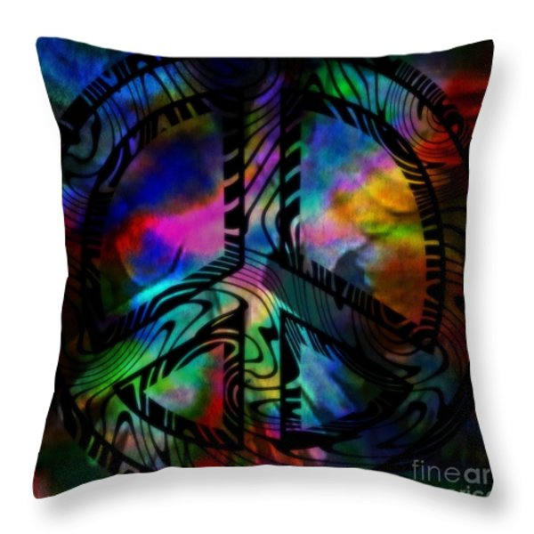 Peace #1 Throw Pillow by WBK