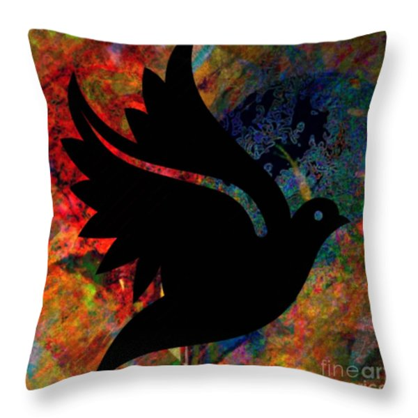 Peace #12 Throw Pillow by WBK