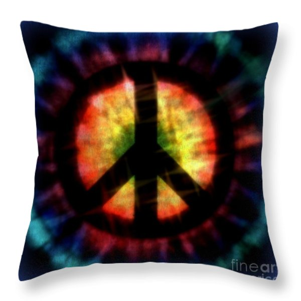 Peace #23 Throw Pillow by WBK