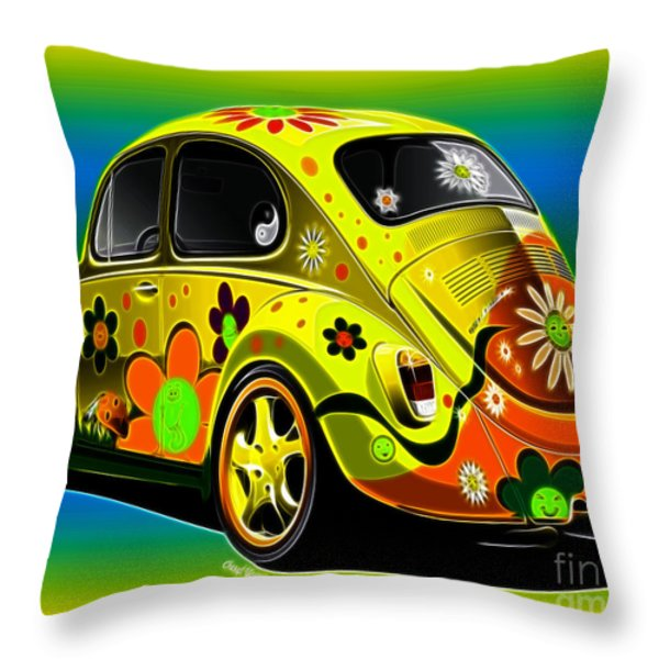 Peace Throw Pillow by Cheryl Young