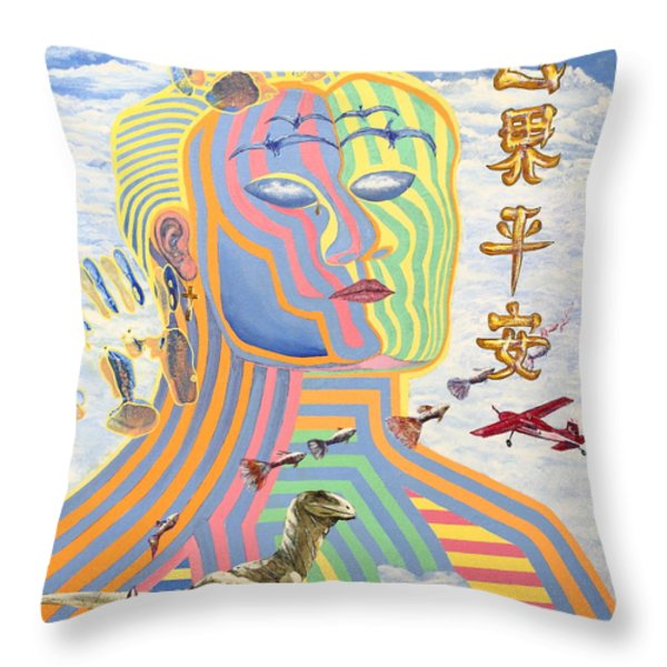 Peace on Earth 1989 Throw Pillow by Wingsdomain Art and Photography