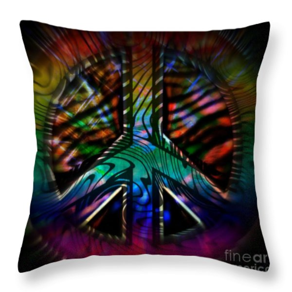 Peace Series #2 Throw Pillow by WBK