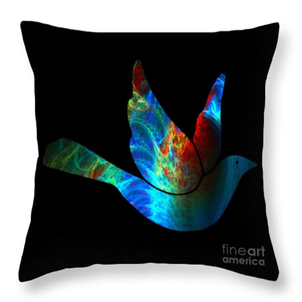 Peace Series #25 Throw Pillow by WBK