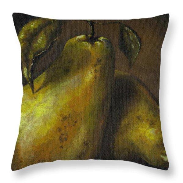 Pears Throw Pillow by Adam Zebediah Joseph
