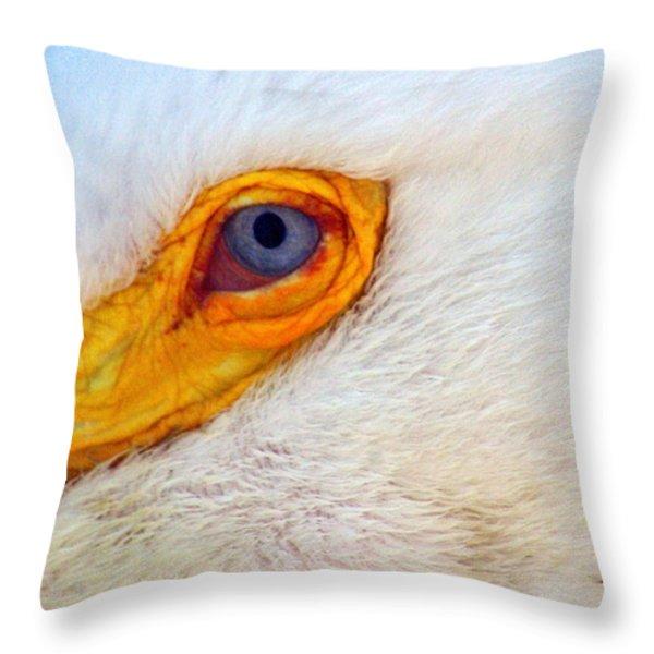 Pelican's Eye Throw Pillow by Marty Koch