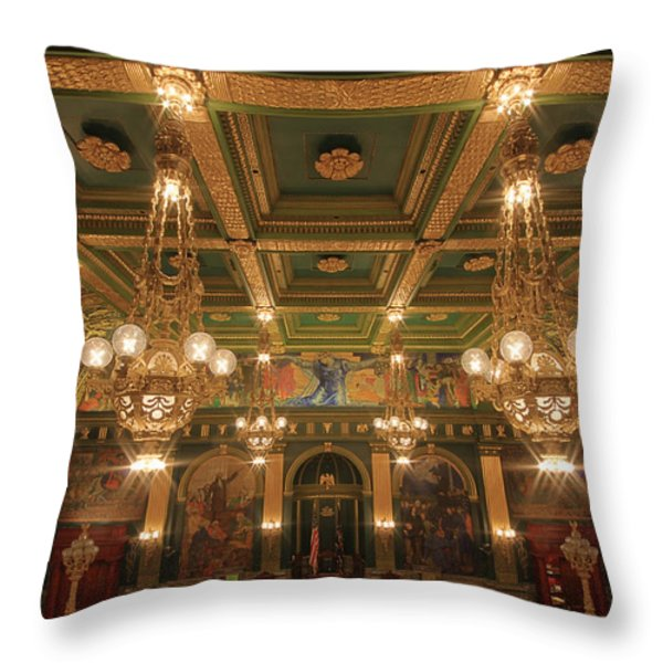 Pennsylvania Senate Chamber Throw Pillow by Shelley Neff