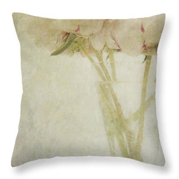 Peonies Throw Pillow by Marion Galt