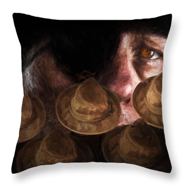 People In The Box Throw Pillow by Bob Orsillo