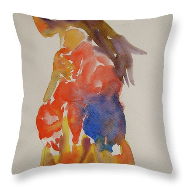 People Turned Away Throw Pillow by Beverley Harper Tinsley
