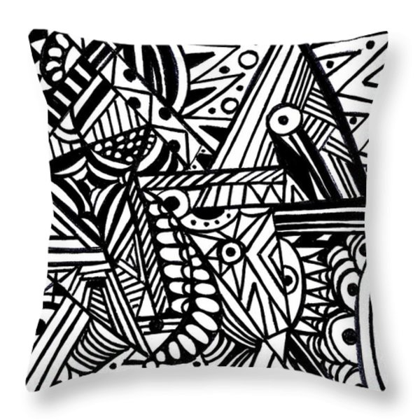 Perception Throw Pillow by WBK