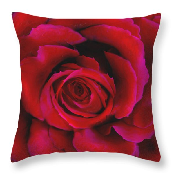 Perfect Rose Throw Pillow by Joel Payne