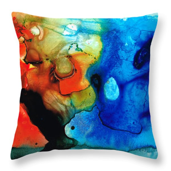 Perfect Whole And Complete Throw Pillow by Sharon Cummings