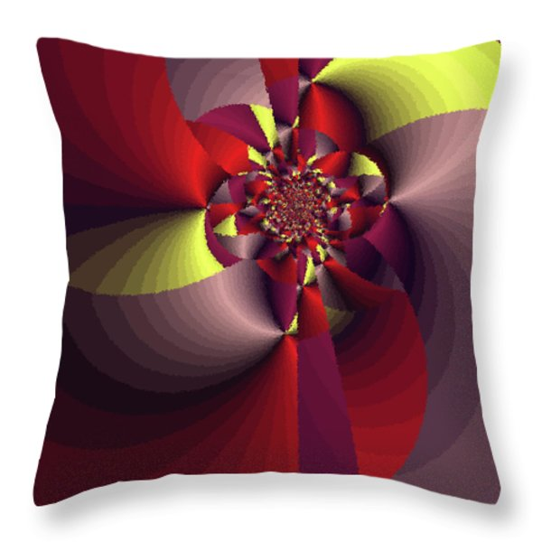 Perfectly Wrapped Throw Pillow by Bonnie Bruno