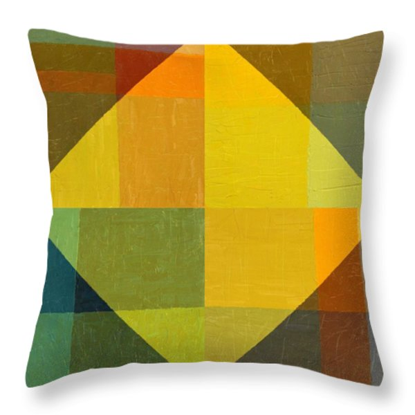 Perspective In Color Collage 2 Throw Pillow by Michelle Calkins