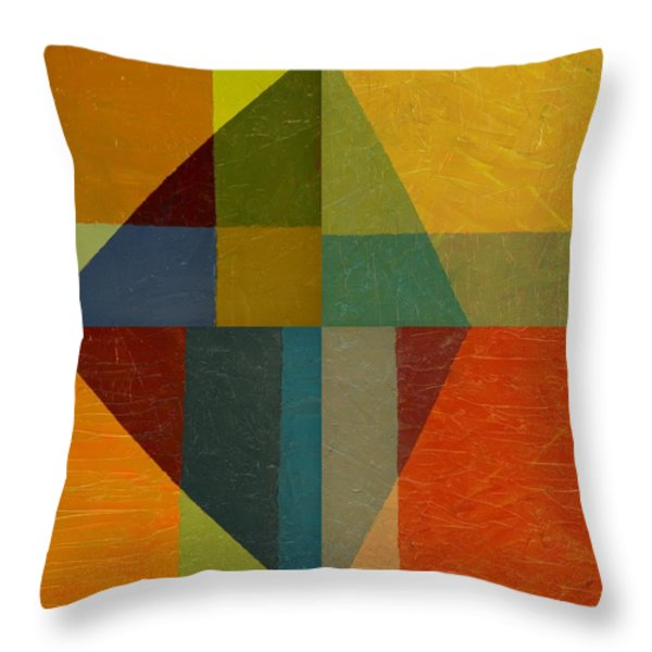 Perspective In Color Collage Throw Pillow by Michelle Calkins