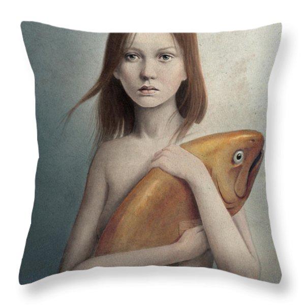 Pet Throw Pillow by Diego Fernandez