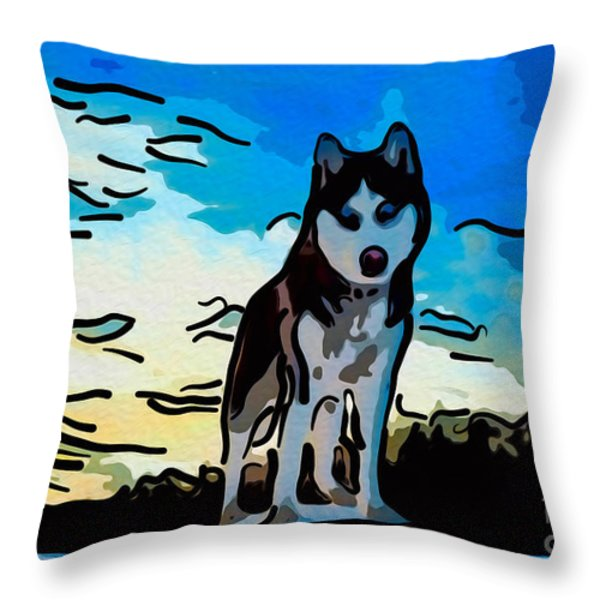 Pet Gone Wild Throw Pillow by Omaste Witkowski
