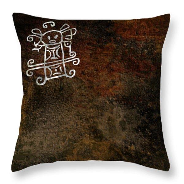 Petroglyph 8 Throw Pillow by Bibi Romer