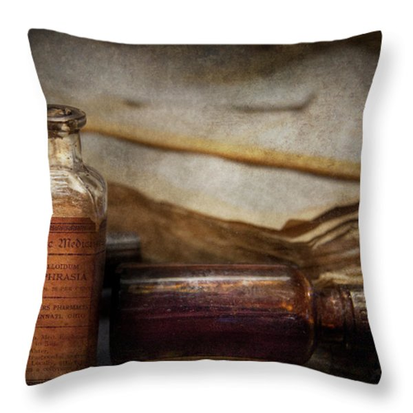 Pharmacist - Specific Medicines  Throw Pillow by Mike Savad