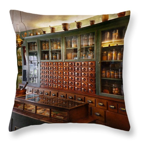 Pharmacy - I'll be out in a minute  Throw Pillow by Mike Savad