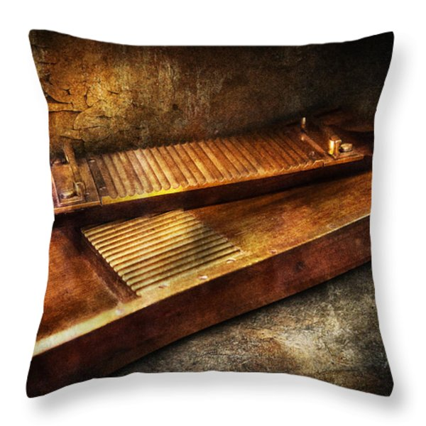 Pharmacy - Traditional pill crusher  Throw Pillow by Mike Savad