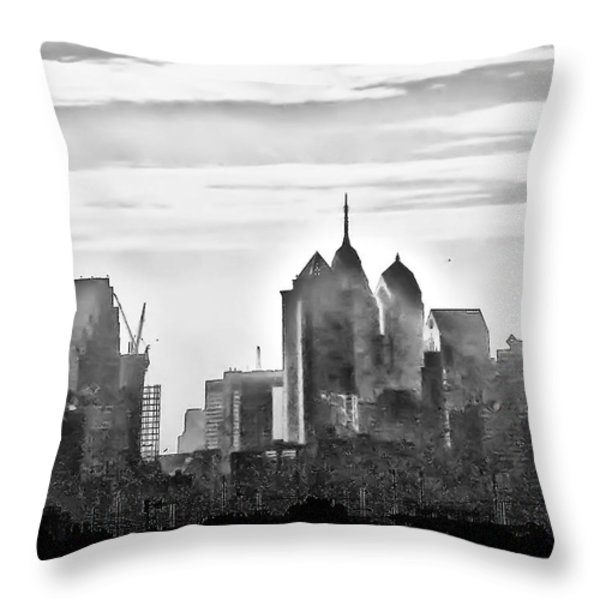 Philadelphia Throw Pillow by Bill Cannon