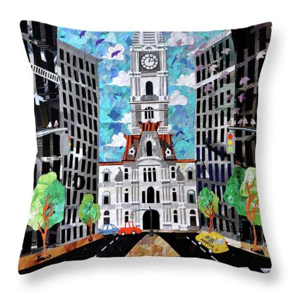Philadelphia Throw Pillow by Blair Barbour