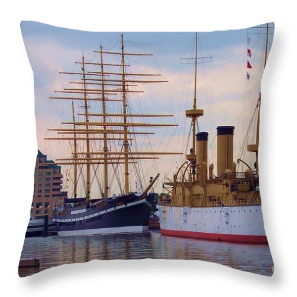 Philadelphia Waterfront Olympia Throw Pillow by Debbi Granruth