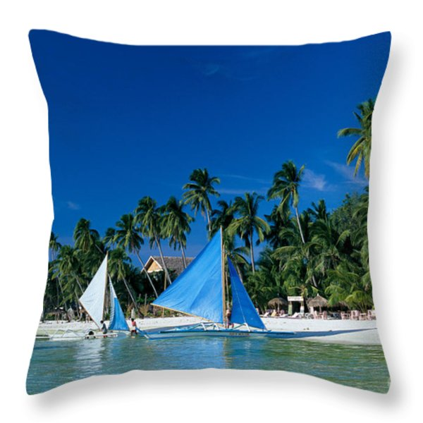 Philippines, Boracay Isla Throw Pillow by Gloria & Richard Maschmeyer - Printscapes
