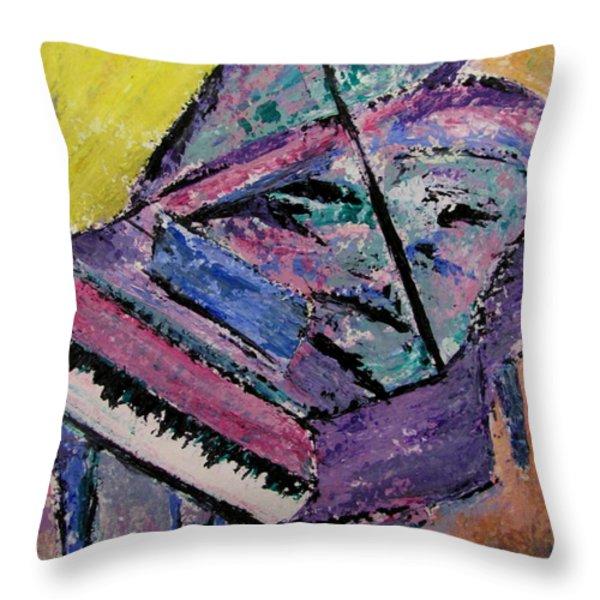 Piano Pink Throw Pillow by Anita Burgermeister