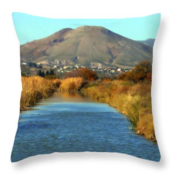 Picacho Peak Throw Pillow by Kurt Van Wagner