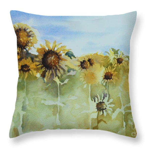 Pick Me Throw Pillow by Gretchen Bjornson
