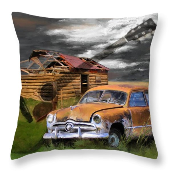 Pickin Out Yesterday Throw Pillow by Susan Kinney