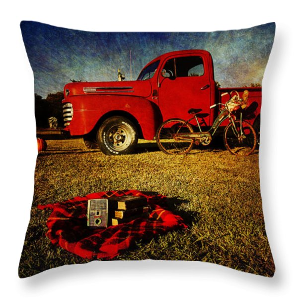 Picnic time 2 Throw Pillow by Toni Hopper