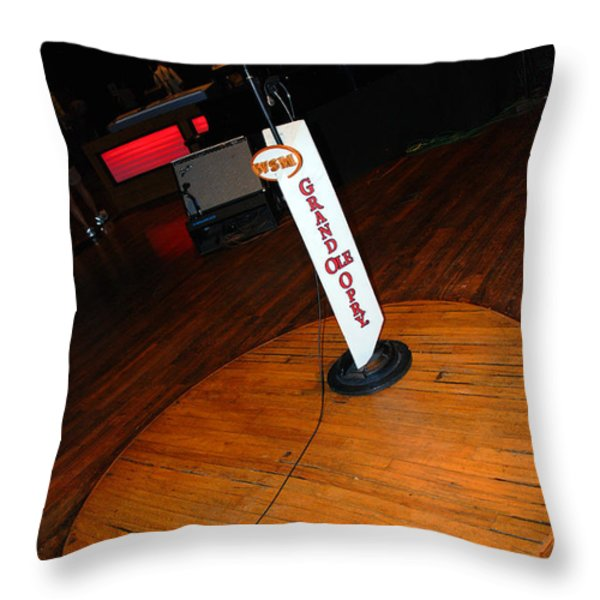 Piece of the original old stage at the Grand Ole Opry in Nashville Throw Pillow by Susanne Van Hulst