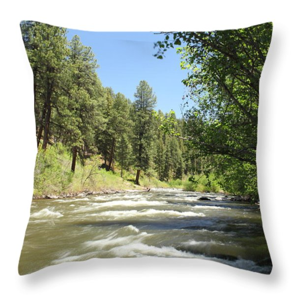 Piedra River Throw Pillow by Eric Glaser