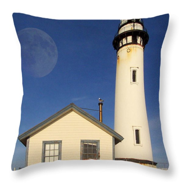 Pigeon Point Lighthouse Throw Pillow by Wingsdomain Art and Photography