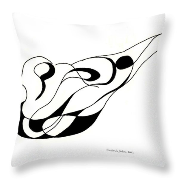 Pigeon Sculpture Throw Pillow by Fred Jinkins