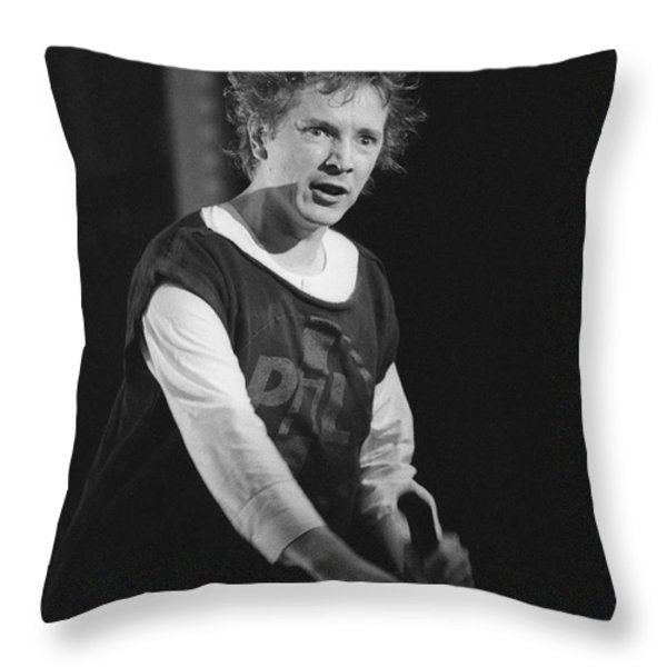 Pil Johnny Came On Stage Throw Pillow by Philippe Taka