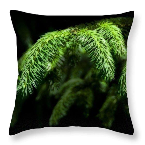 Pine Tree Brunch Throw Pillow by Svetlana Sewell